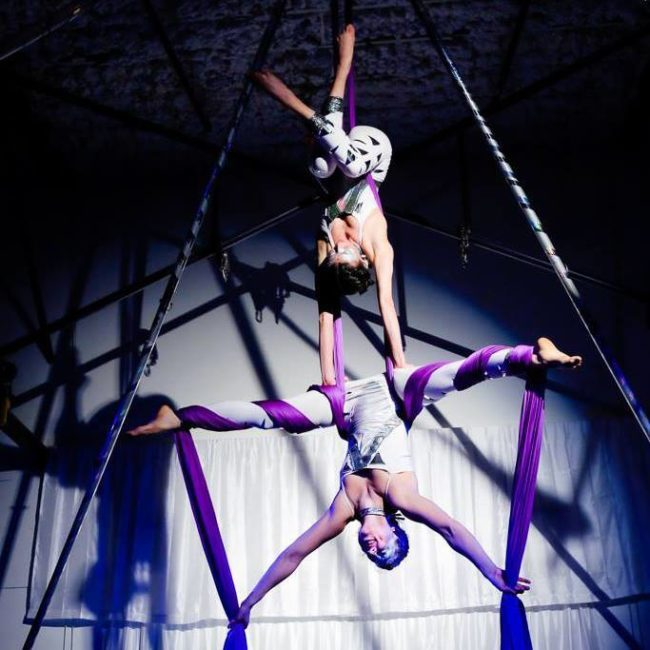 Kaci | Liz | Light Pours In | Aerial Performance | Partner Silks | Duo | Imagine Circus | Cirque | Raleig