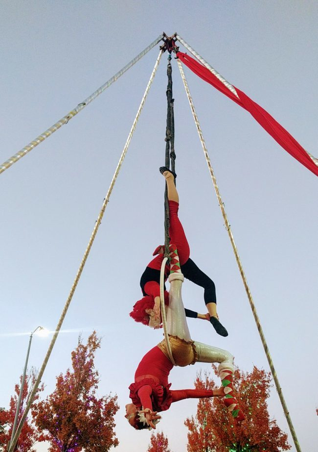 Winter Holidays | Aerial Performers | Partner Lyra | Duo Aerials | Imagine Circus | Cirque | Raleigh, NC