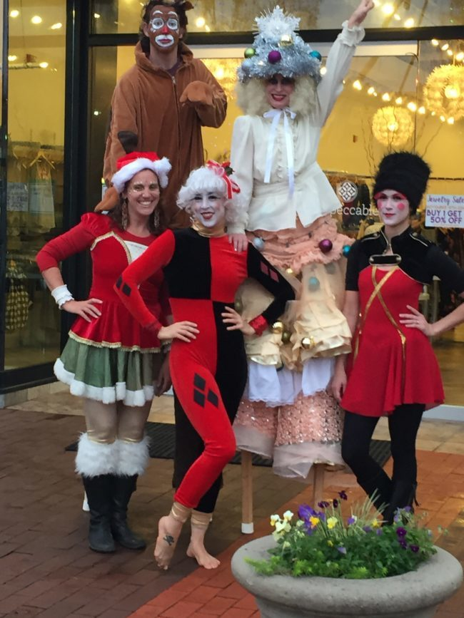 Winter Holidays | Stilt Walker | Performers | Toy Soldier | Rudolph | Reindeer | Santa's Helpers | Imagine Circus | Cirque | Raleigh, NC