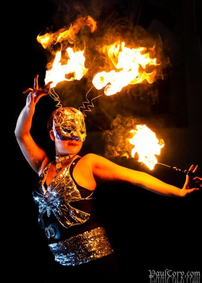Memory | Metallic | Fire Performer | Fire Mask | Orb | Imagine Circus | Cirque | Raleigh, NC