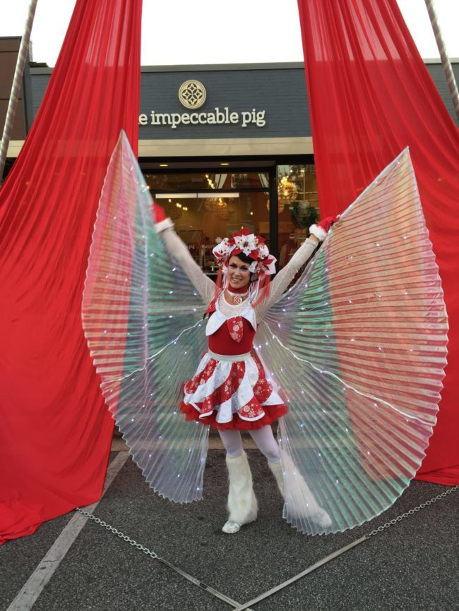 Mindy | Winter Holidays | Peppermint Princess | Wings | Winged Dancer | Imagine Circus | Cirque | Raleigh, NC