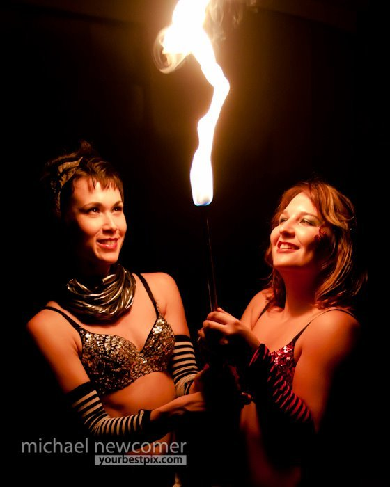 Mindy | Irene | Fire Dancers | Fire Torch Duo | Performers | Imagine Circus | Cirque | Raleigh, NC