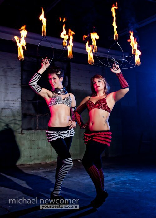 Mindy | Irene | Fire Dancers | Fire Fan Duo | Performers | Imagine Circus | Cirque | Raleigh, NC