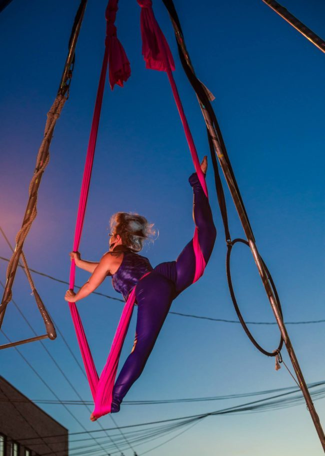 Robin | Street Festival | Aerial Silks | Silk Performer | Aerial Fabric | Imagine Circus | Cirque | Raleigh, NC