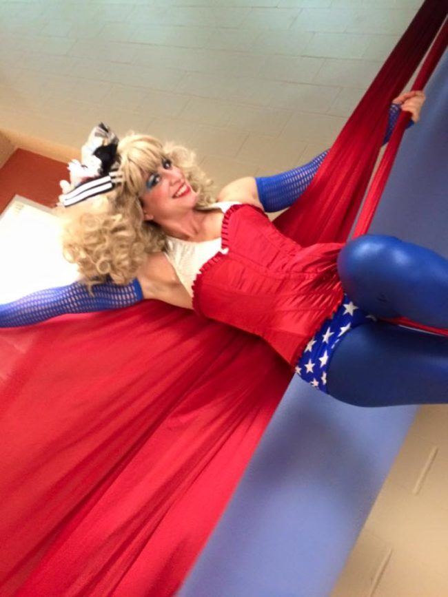 Robin | Patriotic Holidays | Aerial Performer | Silks | USA | Imagine Circus | Cirque | Raleigh, NC