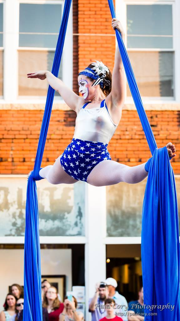 Robin | Patriotic Holidays | Aerial Performer | Silks | Clown | USA | Imagine Circus | Cirque | Raleigh, NC