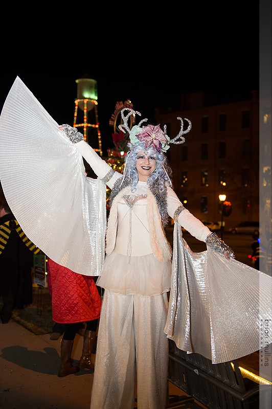 Robin | Winter Holidays | Winged Dancer | Stilt Walker | Mystical Sprite | Wings | Imagine Circus | Cirque | Raleigh, NC