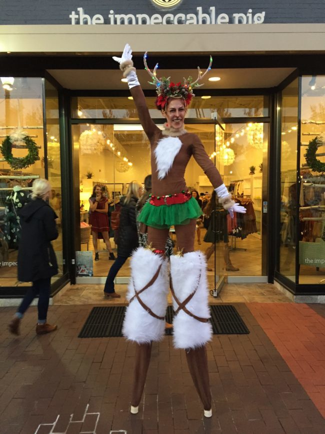Winter Holidays | Stilt Walker | Rudolph | Reindeer | Adrenaline | Imagine Circus | Cirque | Raleigh, NC