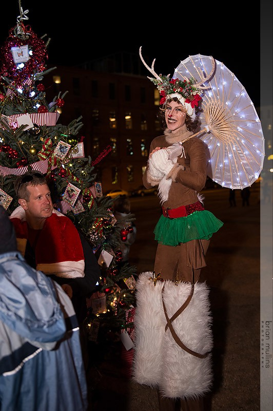 Adrenaline | Winter Holidays | Stilt Walker | Rudolph | Reindeer | LED | Imagine Circus | Cirque | Raleigh, NC