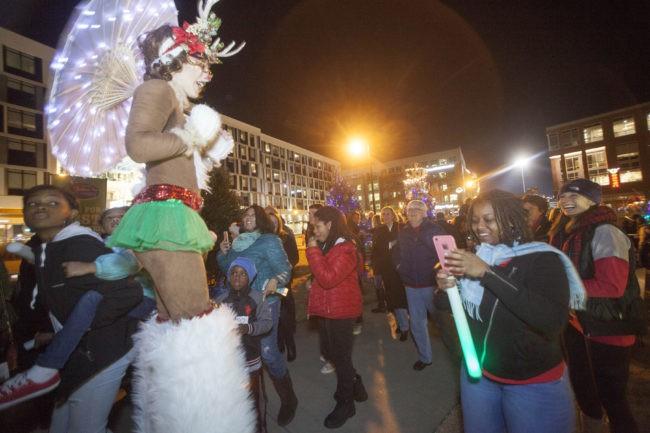 Adrenaline   Winter Holidays   Stilt Walker   Rudolph   Reindeer   LED   Imagine Circus   Cirque   Raleigh, NC