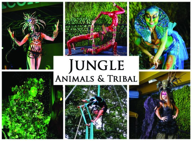Jungle Animals & Tribal | Imagine Circus | Themes | Cirque | Raleigh, NC