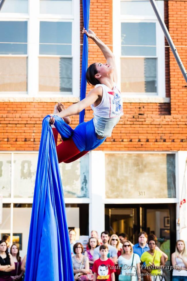 Morgan | Aerial Performance | Silks | Patriotic | PBR | Imagine Circus | Cirque | Raleigh, NC