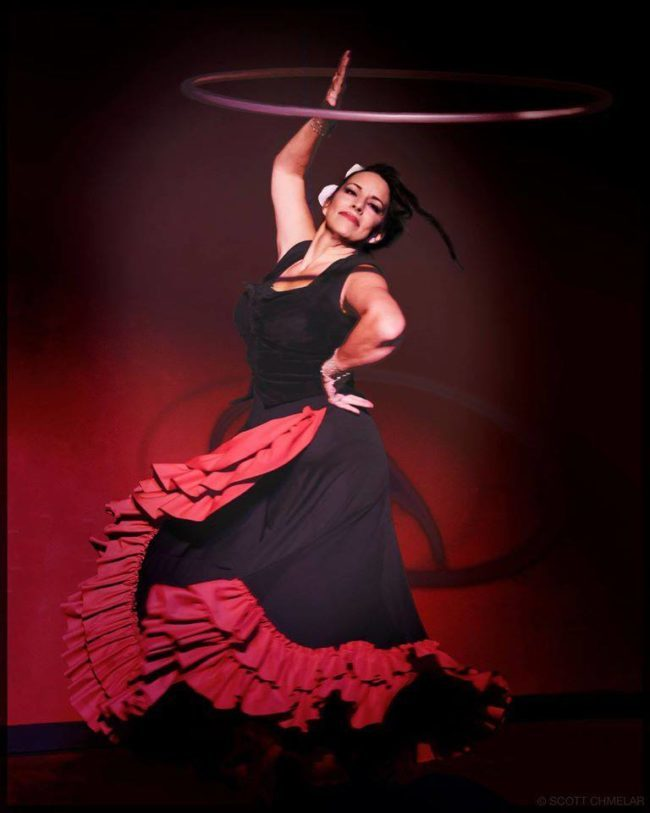 Caroleeena | Flamenco Hoop Dancer | Hula Hoop | Hooper | Performer | Imagine Circus | Cirque | Raleigh, NC