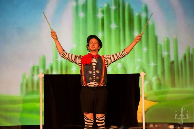 Ian | Clown | Flower Sticks | Stage Show | Performer