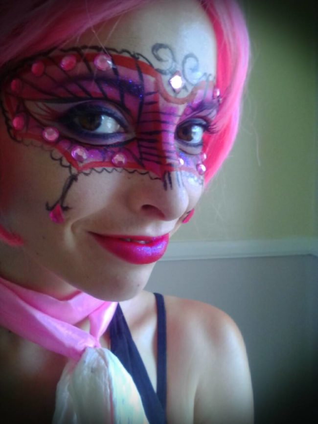 Molly | Face Paint | Body Painter | Makeup | Fantasy | Masquerade | Performer | Imagine Circus | Cirque | Raleigh, NC