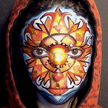 Molly | Face Paint | Body Painter | Makeup | Fantasy | Tribal | Performer | Imagine Circus | Cirque | Raleigh, NC