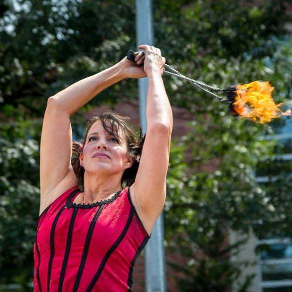 Caroleeena | Fire Dancer | Fire Poi | Performer | Imagine Circus | Cirque | Raleigh, NC