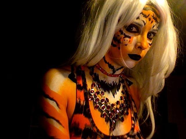 Molly | Face Paint | Body Painter | Makeup | Fantasy | Jungle | Performer | Imagine Circus | Cirque | Raleigh, NC