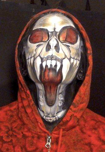 Molly   Face Paint   Makeup   Halloween   Skull   Performer   Imagine Circus   Cirque   Raleigh, NC
