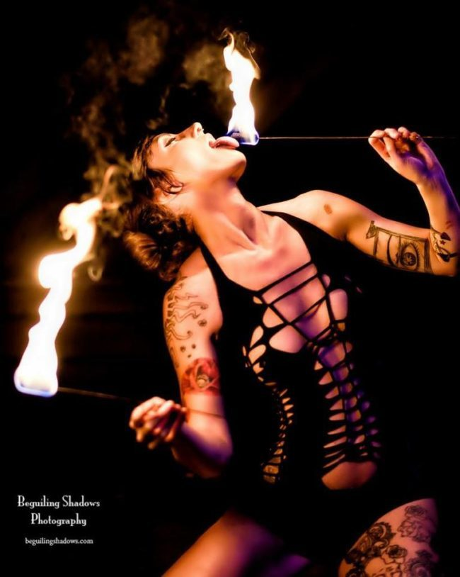 Lacy | Side Show | Fire Eater | Fire Eating | Adult Performer | Imagine Circus | Cirque | Raleigh, NC