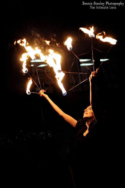 Caroleeena | Fire Dancer | Fire Fans | Performer | Imagine Circus | Cirque | Raleigh, NC