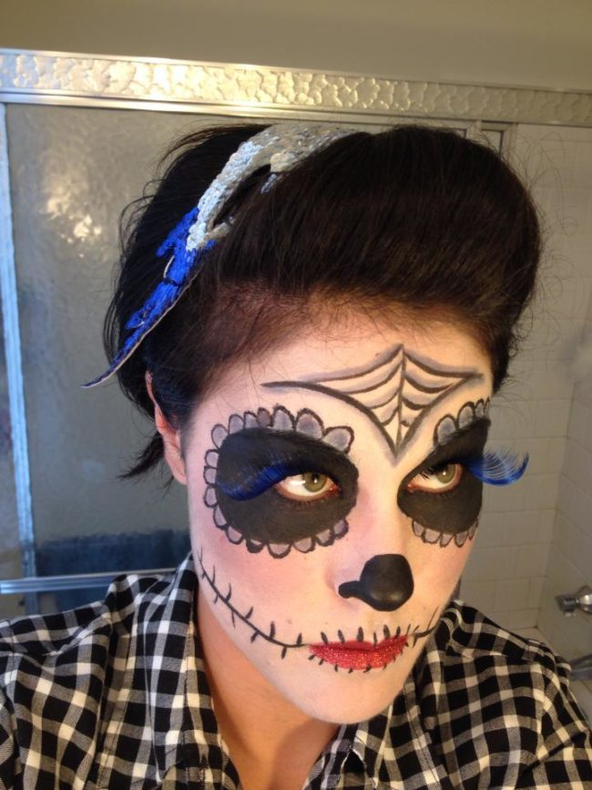 Morgan |Day of the Dead | Face Paint | Performer | Imagine Circus | Cirque | Raleigh, NC