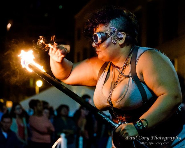 Gatita | Steam Punk | Fire Performer | Sword | Imagine Circus | Cirque | Raleigh, NC