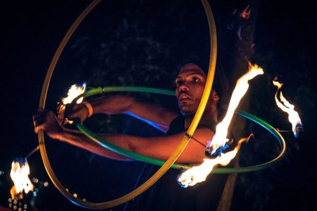Ben | Fire Performer | Double Hoops | Imagine Circus | Cirque | Raleigh, NC