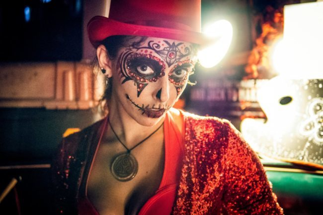 Molly | Face Painter | Face Paint | Makeup | Day of the Dead | Performer | Imagine Circus | Cirque | Raleigh, NC