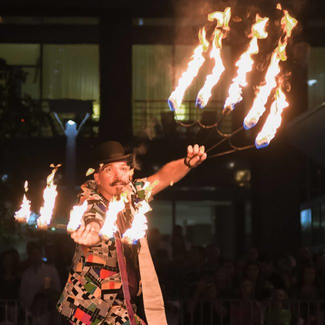 Thunder | Fire Fans | Performer | Imagine Circus | Cirque | Raleigh, NC