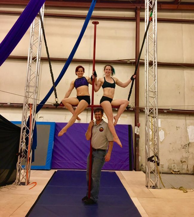 Todd with Pole Performers | Custom Aerial Apparatus