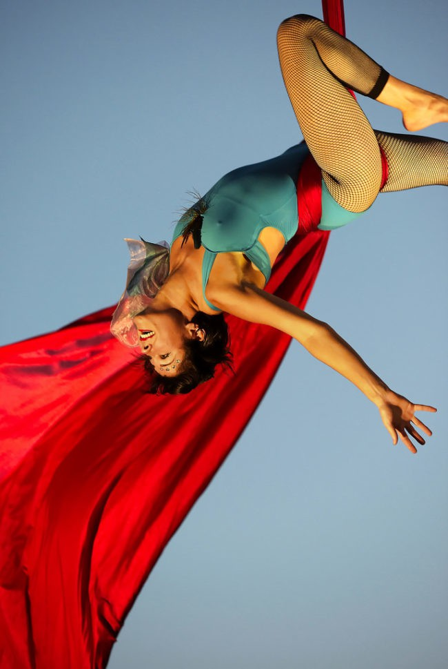 Morgan | Aerial Performance | Silks | Speakeasy | Imagine Circus | Cirque | Raleigh, NC