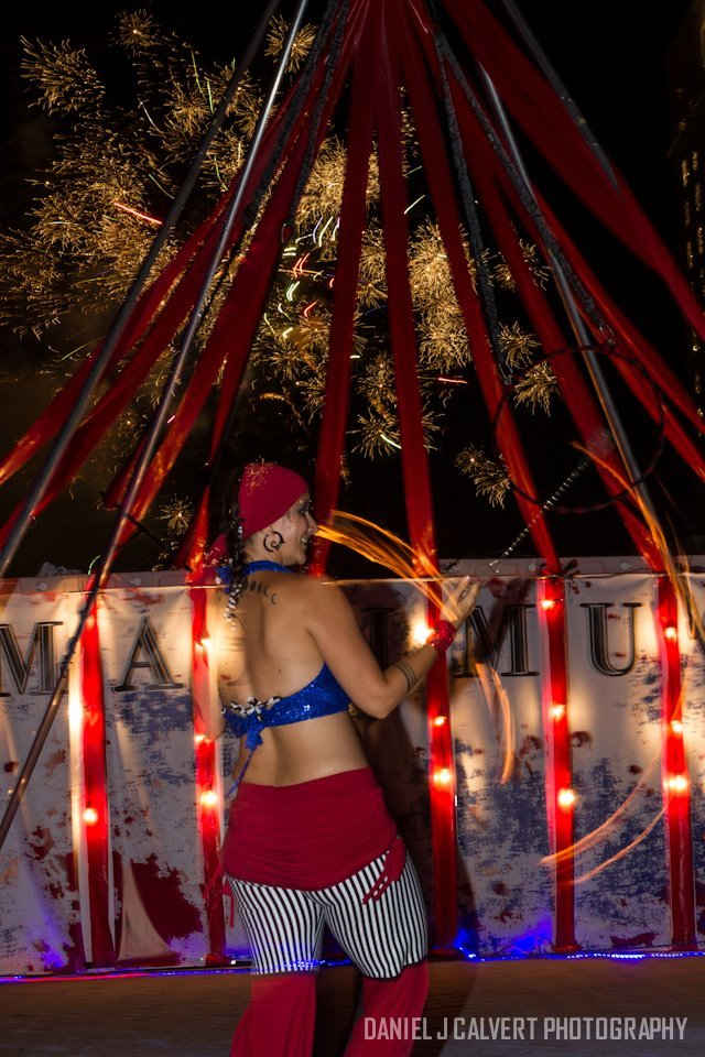 Patriotic Holidays | Fire Performance | Poi | Flow Artist | Imagine Circus | Cirque | Raleigh, NC