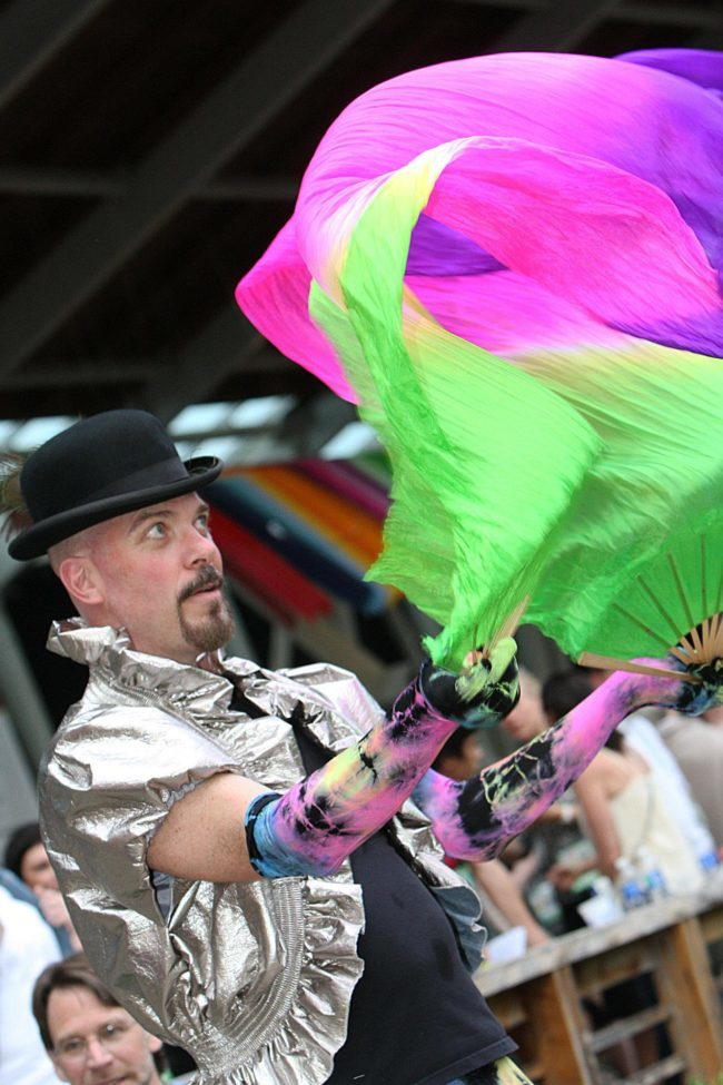 Thunder | Fabric Fans | Street Festival | Parade | Performer | Imagine Circus | Cirque | Raleigh, NC