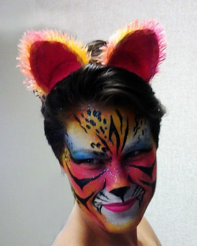 Morgan | Face Paint | Fantasy | Cat | Performer | Imagine Circus | Cirque | Raleigh, NC