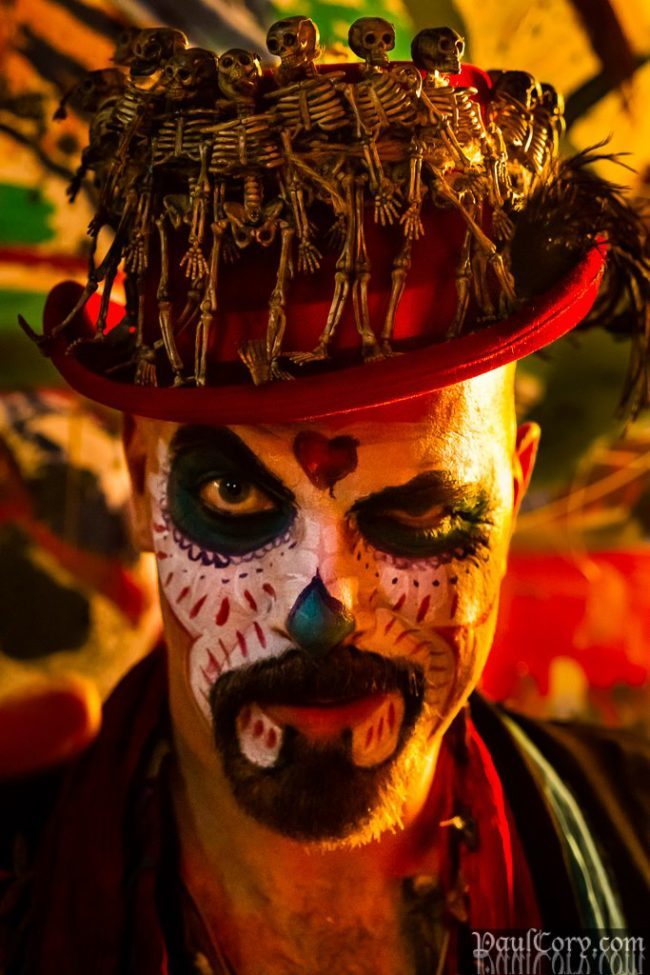 Thunder | Day of the Dead | Makeup | Performer | Imagine Circus | Cirque | Raleigh, NC