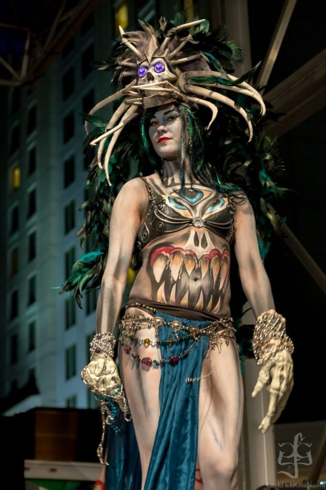 Morgan | Tribal | Body Paint | Performer | Imagine Circus | Cirque | Raleigh, NC