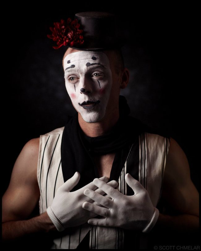 Adam | Big Top Circus | Clown | Mime | Makeup | Performer | Imagine Circus | Cirque | Raleigh, NC