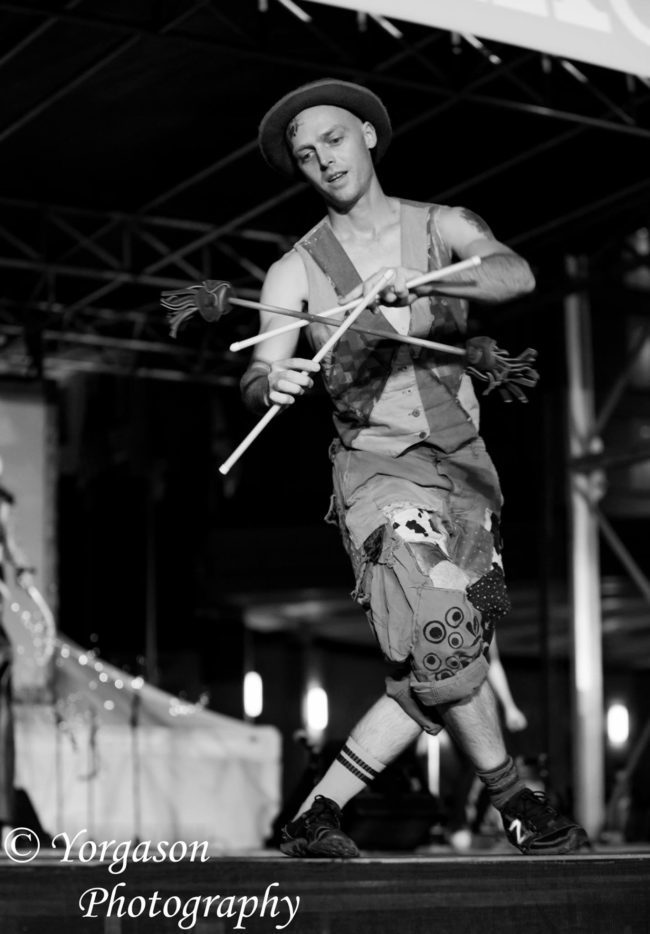 Adam | Flow Artist | Flower Sticks | Performer | Imagine Circus | Cirque | Raleigh, NC