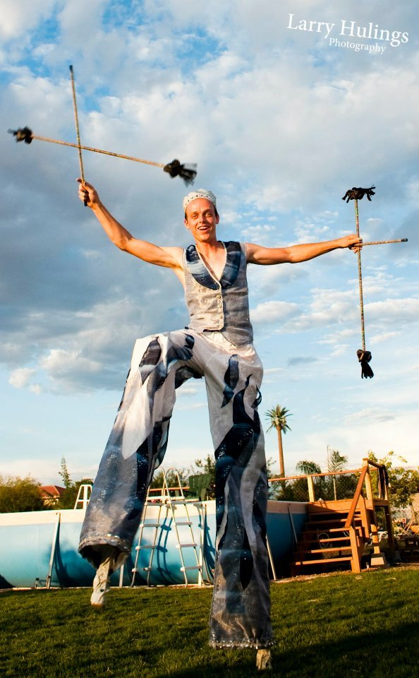 Adam | Flow Artists | Flower Sticks | Stilt Walker | Performer | Imagine Circus | Cirque | Raleigh, NC