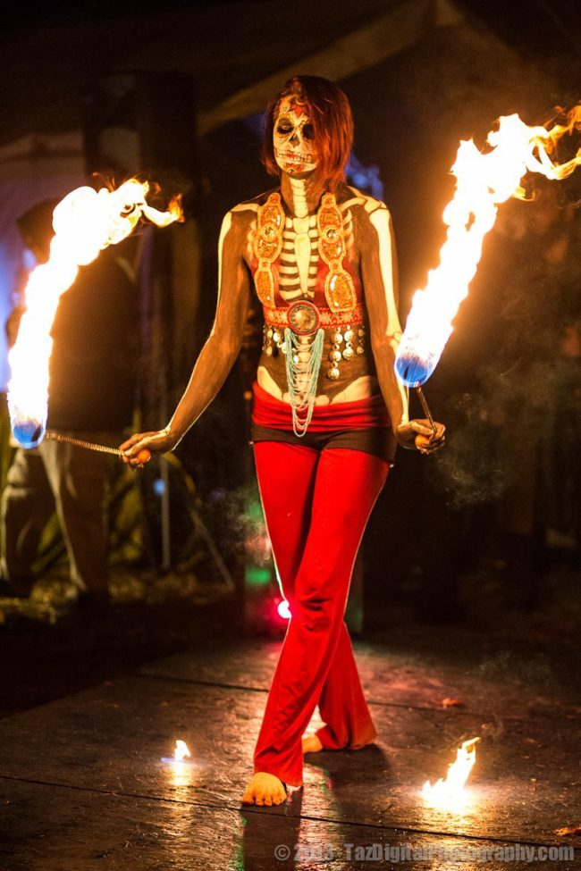 Alana | Day of the Dead | Fire Performer | Imagine Circus | Cirque | Raleigh, NC