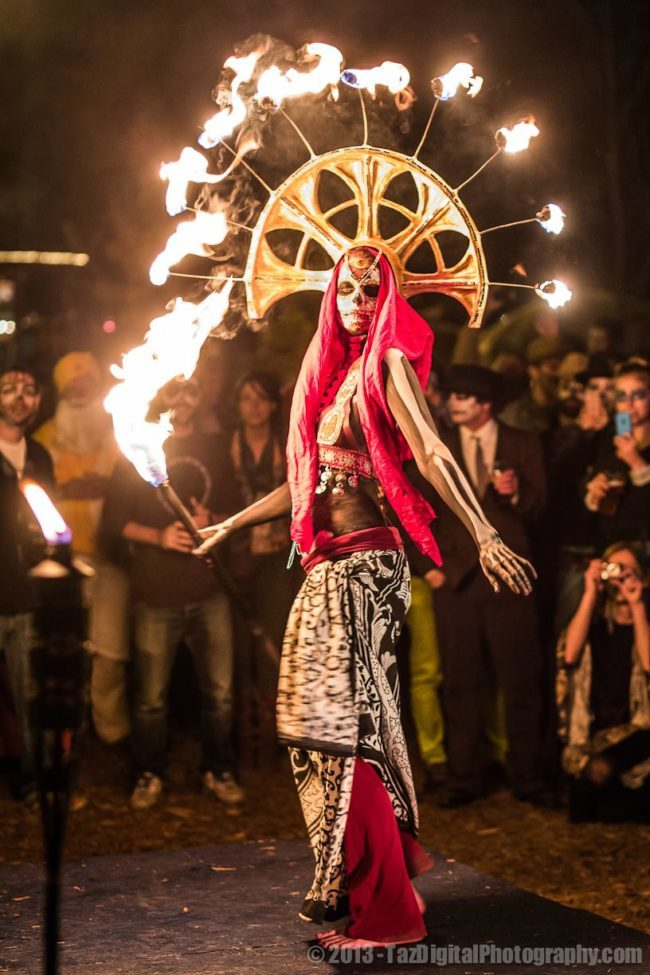 Alana | Day of the Dead | Fire Performer | Fire Costume | Imagine Circus | Cirque | Raleigh, NC