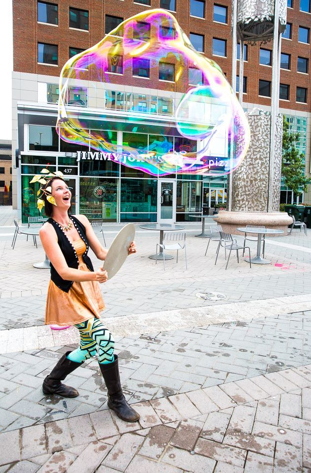 Alana | Interactive Bubble Experience | Bubble Art | Performer | Imagine Circus | Cirque | Raleigh, NC