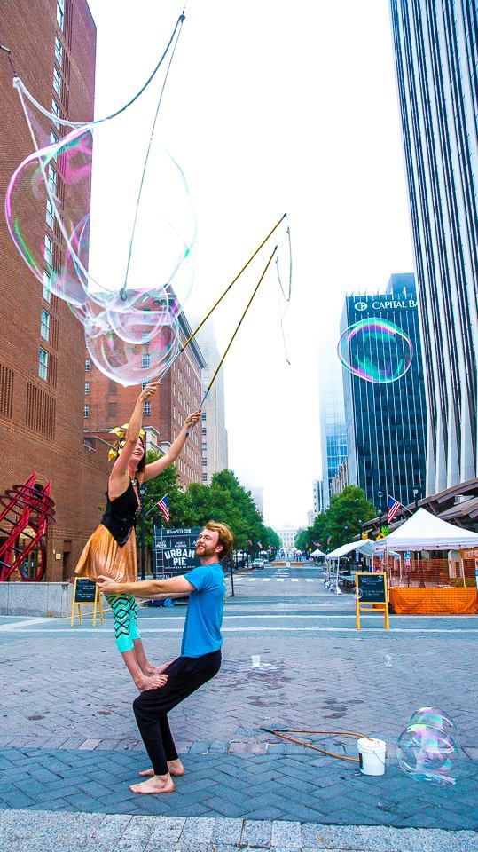 Interactive Bubble Experience | Bubble Art | Performer | Imagine Circus | Cirque | Raleigh, NC