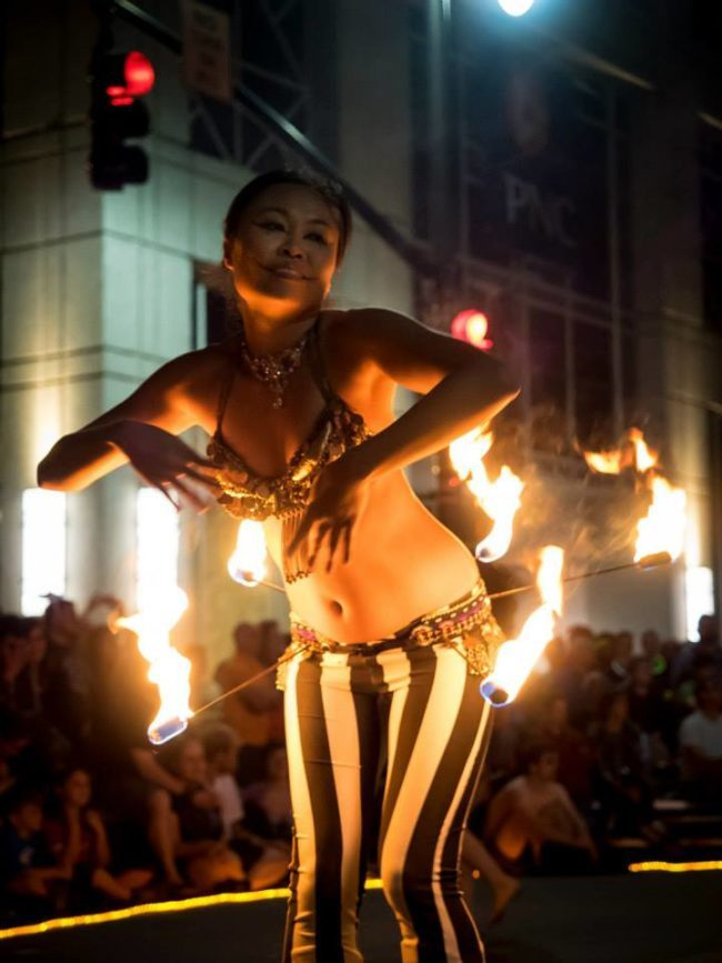 Asyia | Belly Dancer | Modern Belly Dancing | Fire Belt | Performer | Imagine Circus | Cirque | Raleigh, NC