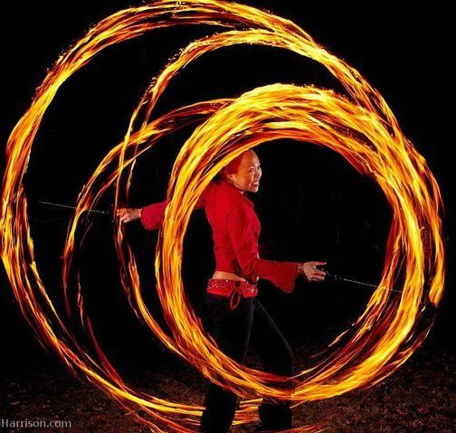 Asyia | Fire Poi | Performer | Imagine Circus | Cirque | Raleigh, NC