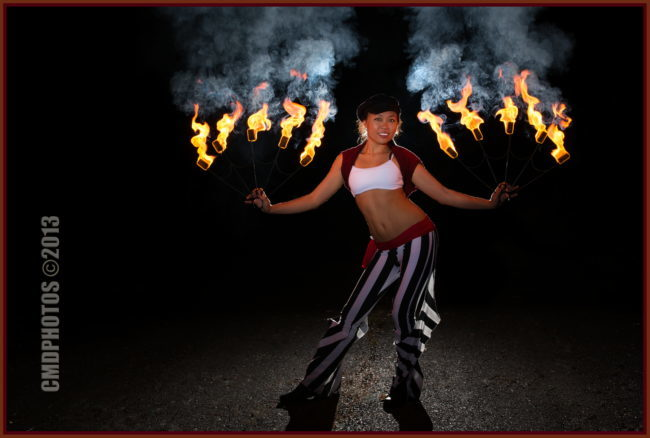 Asyia | Fire Dancer | Fire Fans | Performer | Imagine Circus | Cirque | Raleigh, NC