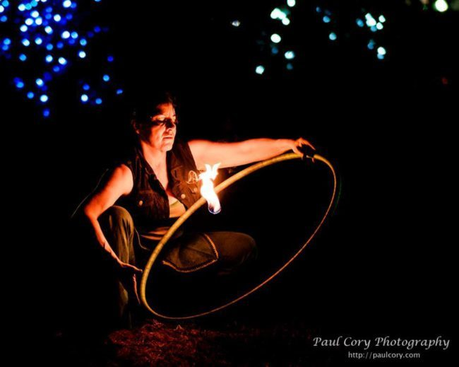 Caroleeena | Fire Hoop Dancer | Hula Hoop | Hooper | Performer | Imagine Circus | Cirque | Raleigh, NC