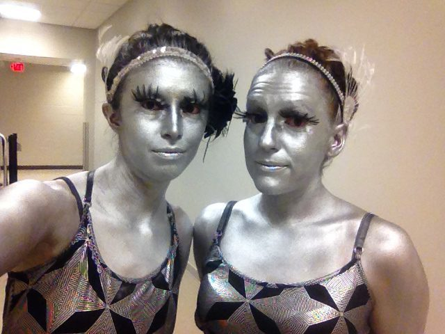 Kaci | Katie | Metallic | Futuristic | Silver | Living Statue Duo | Imagine Circus | Cirque | Raleigh, NC