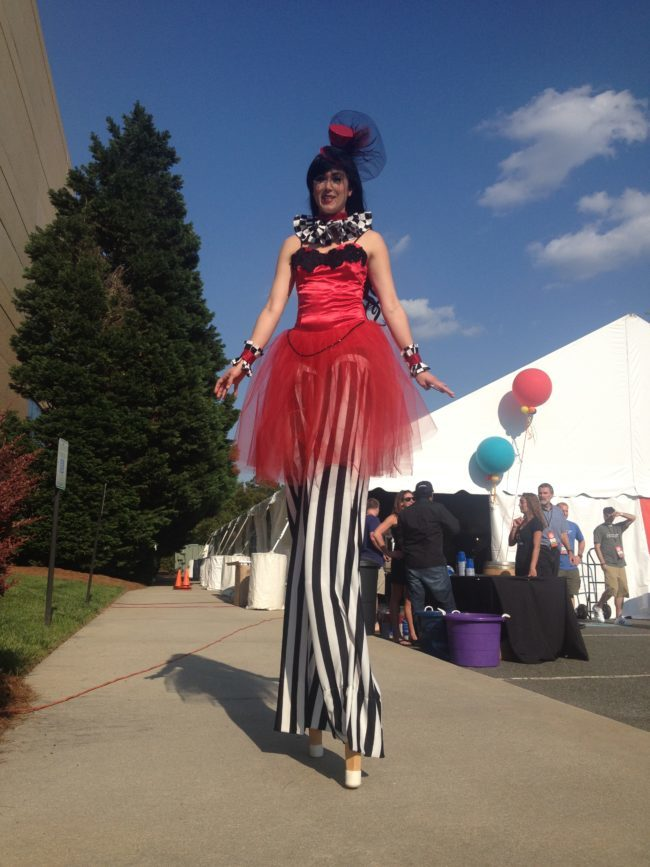 Mindy | Big Top Circus | Parade | Stilt Walker | Street Festival | Imagine Circus | Cirque | Raleigh, NC